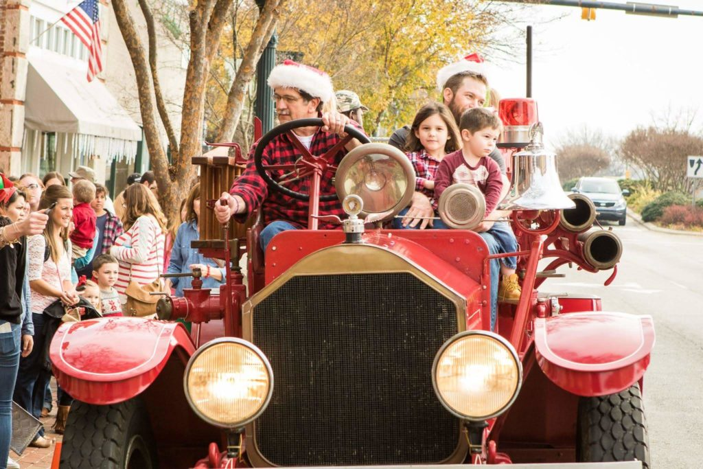 Ride on an antique fire truck in downtown salisbury.